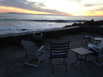 La Conchita house rental - Sunset from front deck