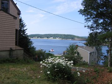 View from the side of the cottage