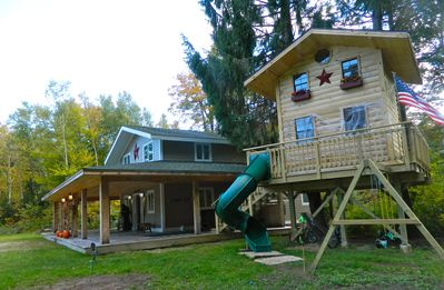 Extreme Treehouse & Side View of House