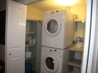 Shuswap Lake townhome photo - new front load washer and dryer so you don't run out of clean clothes