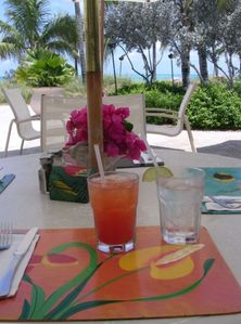 Enjoy food or a rum punch at the Seaside Cafe at OCW -- Vacation Condo Rental
