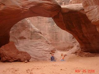 Moab condo photo - Sand Dune Arch. Arches National Park.
