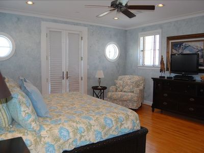 Galveston house rental - Master Bedroom with private balconey