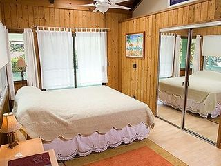 Haleiwa house photo - The Master Bedroom with A C, a sky light, and priv