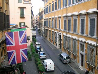 Piazza Navona apartment rental - Exclusive Hotel d'Inghilterra is right next door.