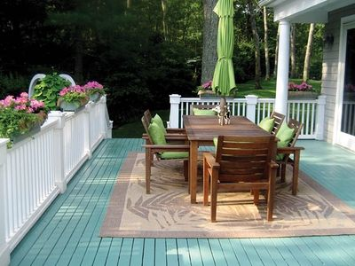 Back deck is perfect for entertaining.
