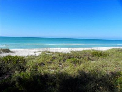 Longboat Key Beach House is right on the Gulf of Mexico on a very private beach.