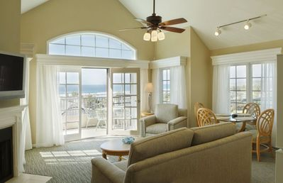 Living Room with Ocean View at the Villa L'Auberge