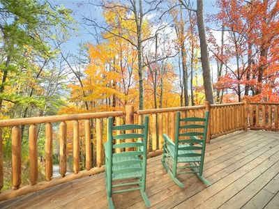Pigeon Forge cabin rental - Its Smokies time rock on the porch Great Views