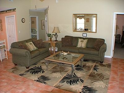 Family Room with Sleeper Sofa, the Center of all in house activity.