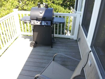 New BBQ grill on 3rd Floor Deck by Kitchen