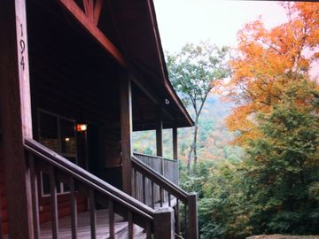 Boone cabin rental - Fall at Rich Summit View