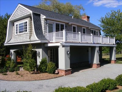 Stonington cottage rental - Charming new cottage with waterfront deck