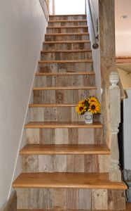 The stairs to the loft