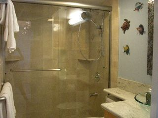 Honolulu condo photo - Bathroom with rain shower