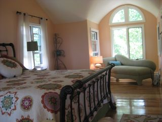 South Haven house photo - Master bedroom suite with sitting area overlooking lake