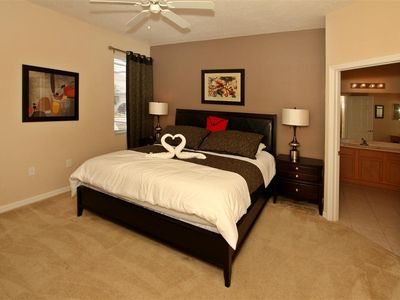 Haines City villa rental - Downstairs master bedroom