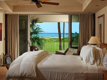 Master Suite Offers Ocean Views, Custom Built Office Desk & Lanai Garden