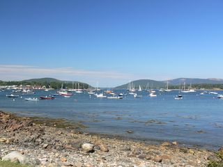 Southwest Harbor house photo - View of Somes Sound from the Shore Road at the end of the right away