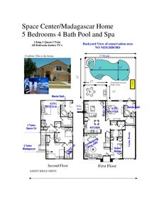 SPACIOUS       2400 SQ FT         SOUTH FACING HOME POOL & SPA, WIFI - The Layout