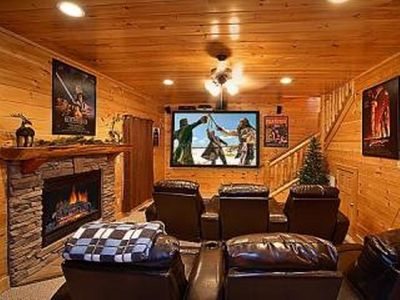 Pigeon Forge cabin rental - .Sorround Sound theater room