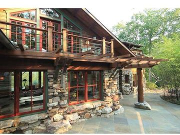 Slate Patios Surround the Lodge