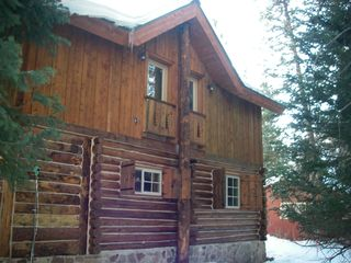 Brighton cabin photo - Another outdoor view.Queen bed top left, bunk room top right,double bottom right