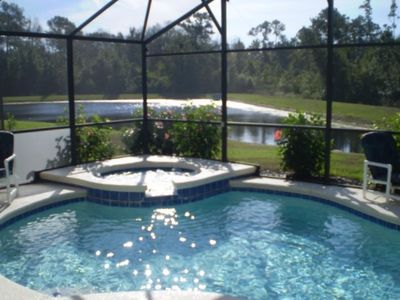 *Lakeside-Orlando* private large pool & spa, south-facing by lake & conservation