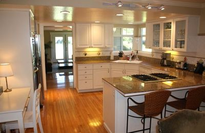 Kitchen that opens up to the Dining Area