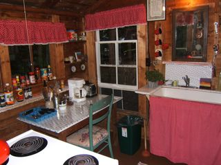 Lake Willoughby cottage photo - Quaint Kitchen Totally Outfitted