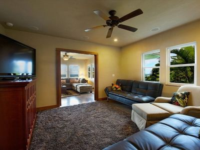 "Theatre Suite, 55"" HDTV Surround Sound, Comfy Euro Style convertable  Sofa Beds"