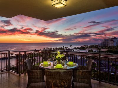 Stunning sunset view from the lanai