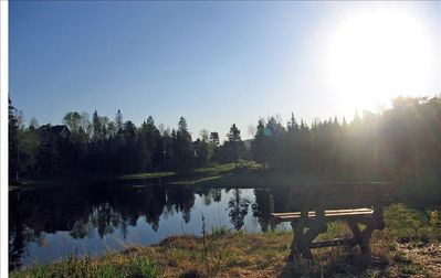 Pond located 2 minute walk away. Great location to enjoy your morning coffee