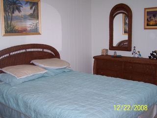 Cherry Grove Beach condo photo - Master Bedroom with half bathroom