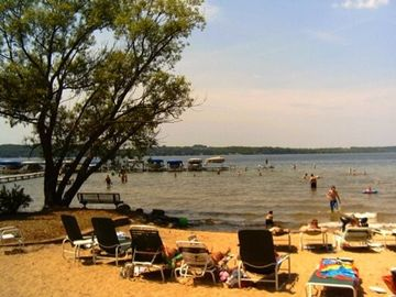 Private Beach club on Lake Bellaire