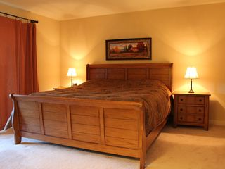 Waterville Valley condo photo - King Bed with access to Sun Room. Private bathroom attached.