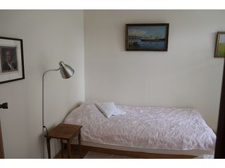 South Iceland villa photo - Bedroom downstairs street side - two DUX™ beds - this one is 105cm
