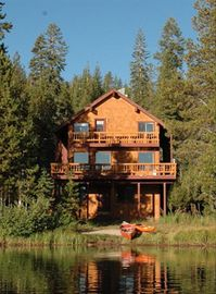 Donner Lake cabin rental - House from the lake