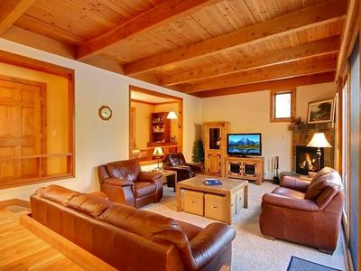 Family Room with 42-inch HDTV and queen sofa sleeper