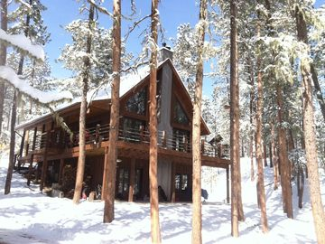 Hill City cabin rental - Winter at Shady Pines