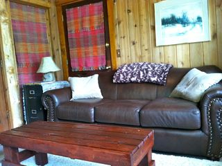 Black Hawk cabin photo - Den with Fold-out sofa and second TV with DVD/VHS player.