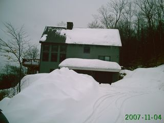 Winter view up driveway - Bartlett house vacation rental photo