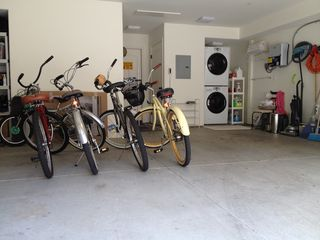 Pacific Beach townhome photo - Bikes in Garage - W/D
