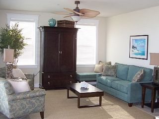 Galveston condo photo - Living Room - Professionally Decorated