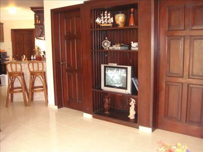 Wall Unit in Mahogany Wood
