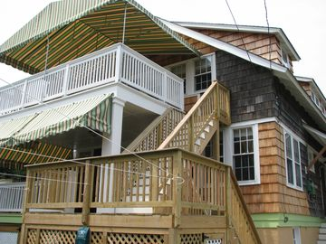 2 rear covered porches/decks w/ocean views, sea breezes & wave/dolphin watching