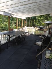 Bushkill house photo - Lower patio