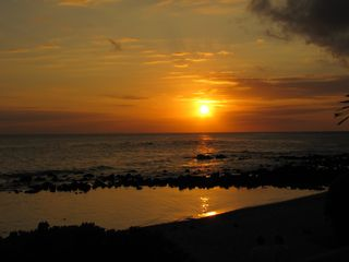Poipu house photo - Sunset on Baby Beach, Wintertime