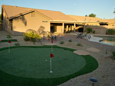 Private Putting Green and Chipper