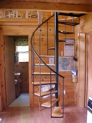 Seal Cove house photo - spiral stairs to loft